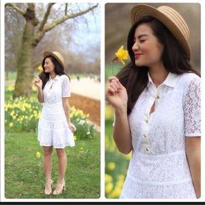 Draper James size 4 white lace meadow dress